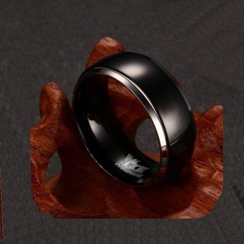 Aliança Preta Amor Profundo modelo Titanium Preto Coleção O Preto Belo (Legitimo)