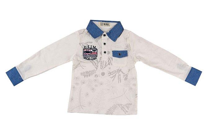 Polo Infantil Menino Kids com bolso