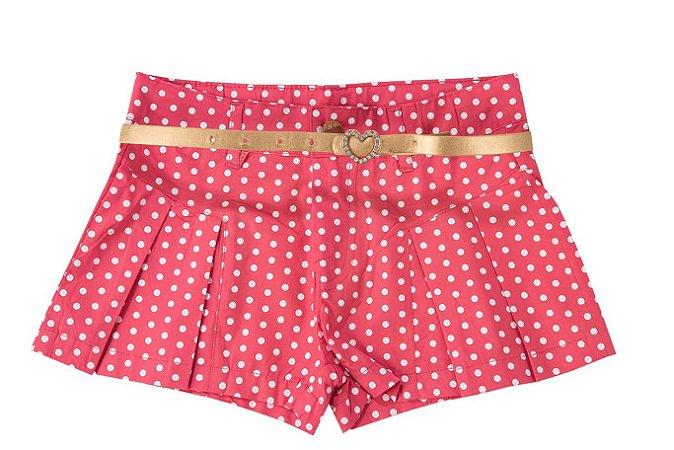 Shorts Poá Infantil Menina