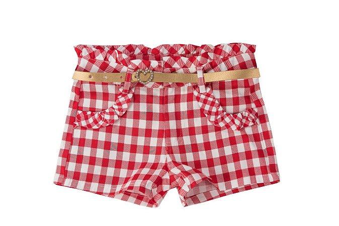 Shorts Xadrez Mily Kids