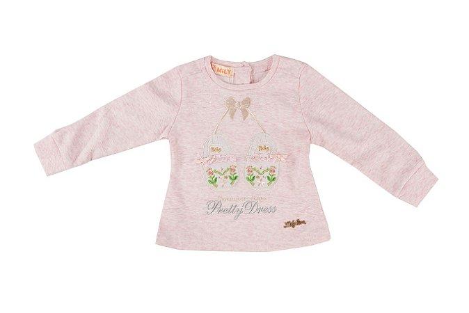 Camiseta Sapatinho Infantil Menina