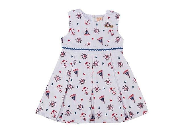 Vestido Infantil Menina Navy