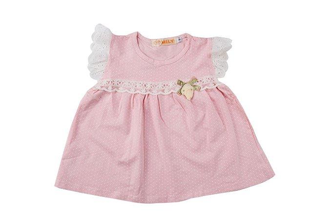 Vestido Infantil Menina Poá