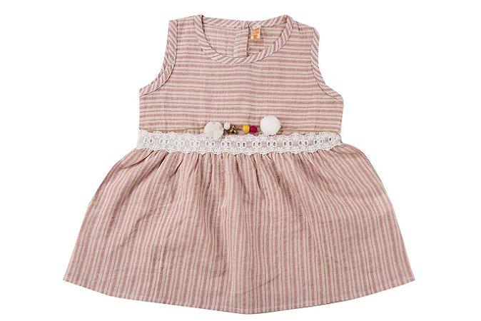 Vestido Infantil Menina Sem Manga