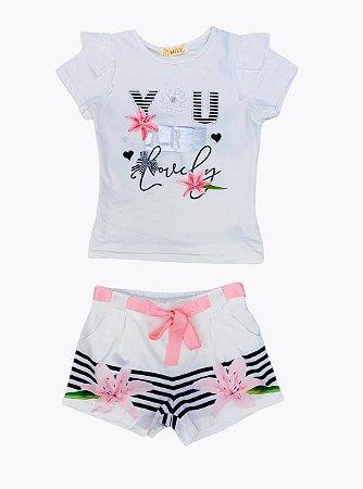 Conjunto Flor Infantil Menina