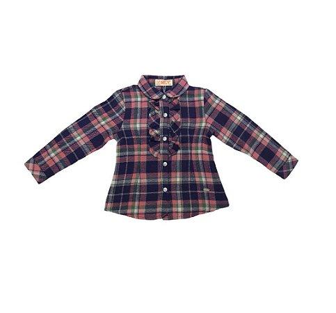 Camisa Flanela Infantil Menina