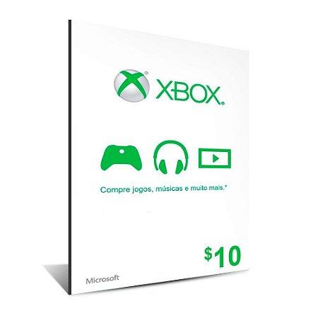 CARTÃO XBOX $10