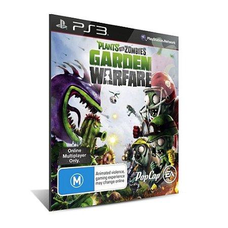 Plants Vs Zombies Garden Warfare Ps3 Psn - Português - Mídia Digital - Playstation 3