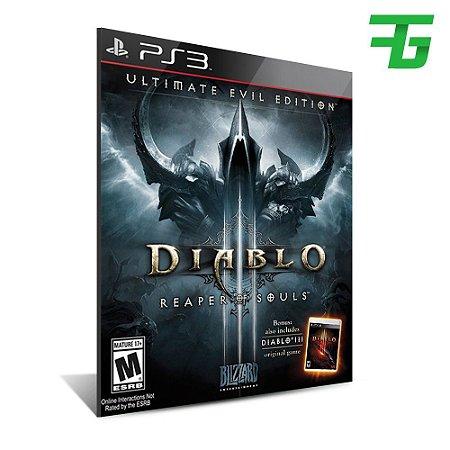 Diablo Iii 3 Reaper Of Souls - Ultimate Evil Edition -Mídia Digital -Playstation 3