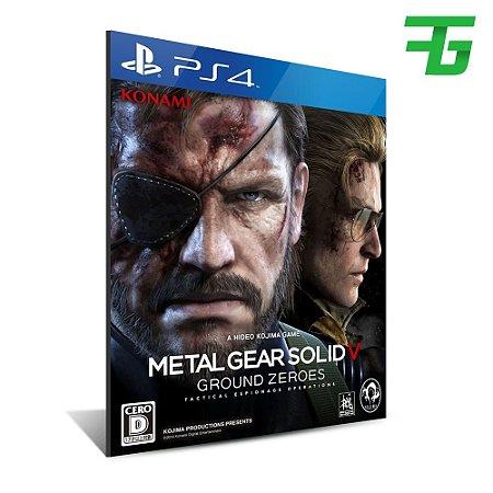 METAL GEAR SOLID 5 GROUND ZEROES PS4 - MÍDIA DIGITAL