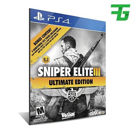 SNIPER ELITE 3 ULTIMATE EDITION PS4 - MÍDIA DIGITAL