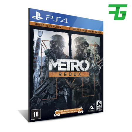 METRO 2033 REDUX PS4 - MÍDIA DIGITAL
