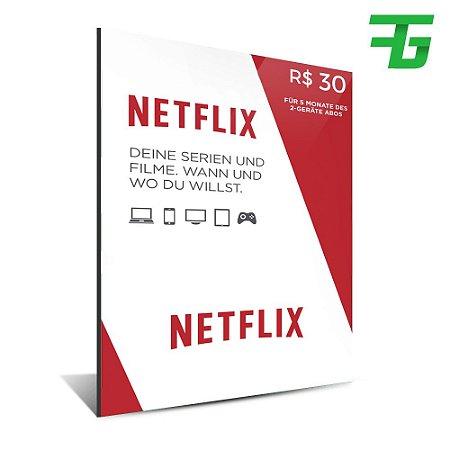 CARTÃO NETFLIX - 30 REAIS