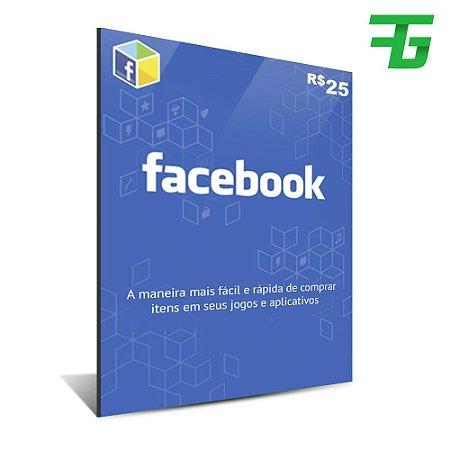 Cartão facebook - 25 BR - DIGITAL