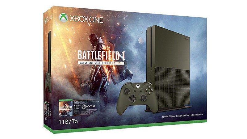 Console Xbox One S 1TB Battlefield 1 Edition
