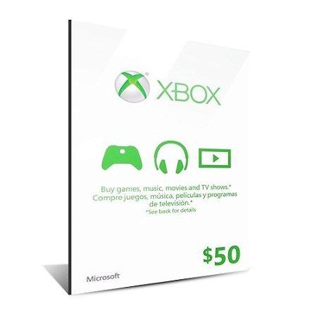XBOX GIFT CARD $50 DÓLARES