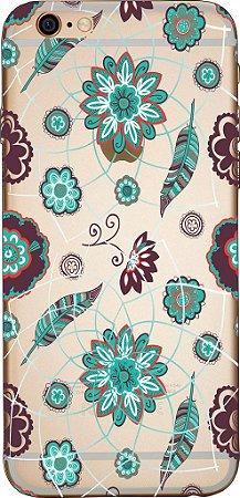Capinha para celular - Floral Blue
