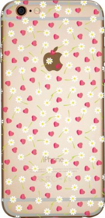 Capinha para celular - Corações e Margaridas
