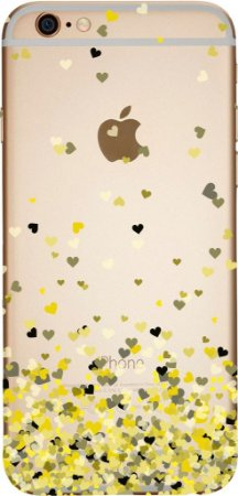 Capinha para celular - Corações Flutuantes Amarelo