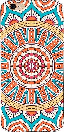 Capinha para celular - Mandala Laranja