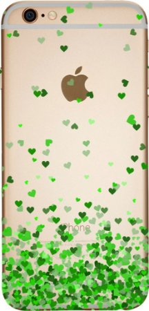 Capinha para celular - Corações Flutuantes Verde