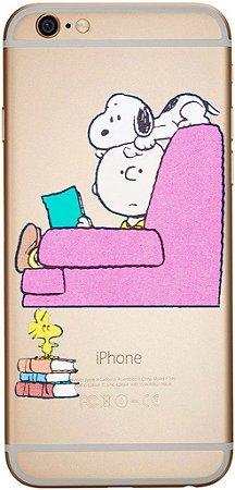 Capinha para celular Snoopy e Charlie