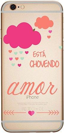 Capinha para celular Está Chovendo Amor