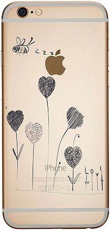Capinha para celular - Amor em Flores