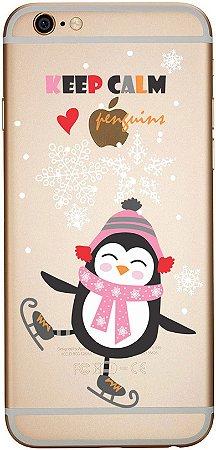 Capinha para celular - Pinguim Dançando