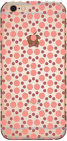 Capinha para celular - Bolinhas Rosas