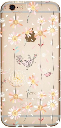 Capinha para celular - Flores e Passarinhos