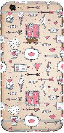 Capinha para celular - Love Beijos