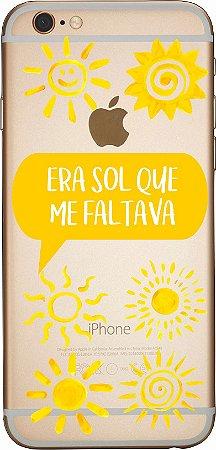 Capinha para celular - Era Sol Que Me Faltava