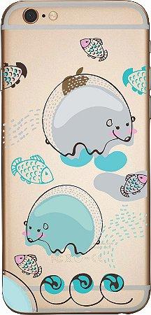 Capinha para celular - Ursos e Peixes