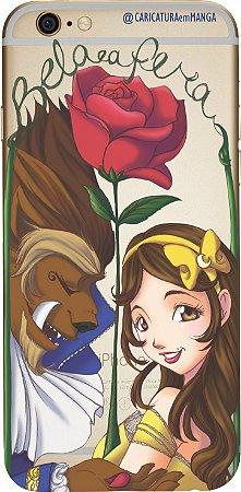 Capinha para celular - Princesa Bela e a Fera sem fundo