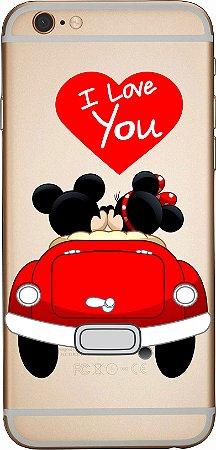 Capinha para celular -  I love Mickey e Minnie
