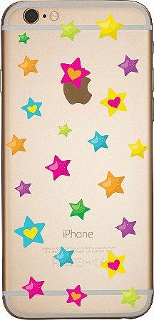 Capinha para celular- Estrelas e Corações