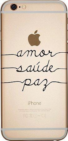 Capinha para celular - Amor Saúde Paz