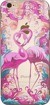 Capinha para celular - Love Flamingos