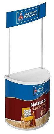 Balcão Promocional Redondo Stand Com Impressão