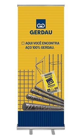 Porta Banner Retrátil 80X200 CM Tecido