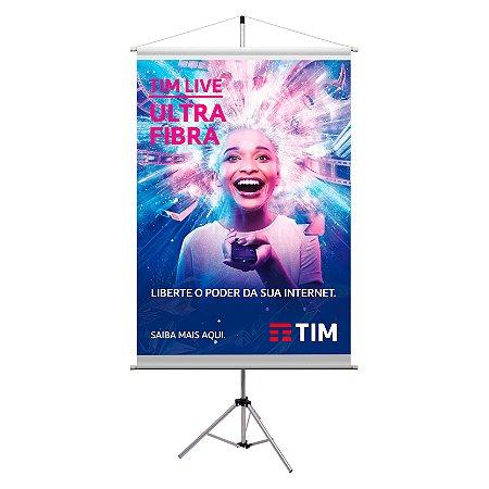 Porta Banner até 215CM Com Impressão 80x120cm