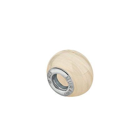 Berloque separador murano branco