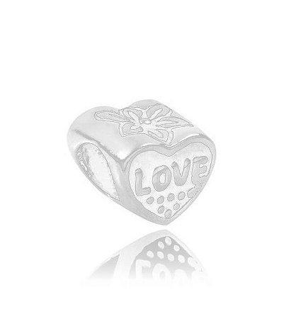 Berloque coração love amor