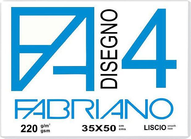 Papel Fabriano 4 Liscio 35 x 50 ( 10 Folhas em Semi-Bloco)