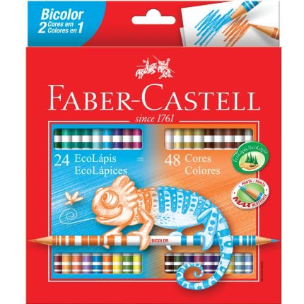LÁPIS DE COR BICOLOR COM 48 CORES – FABER-CASTELL