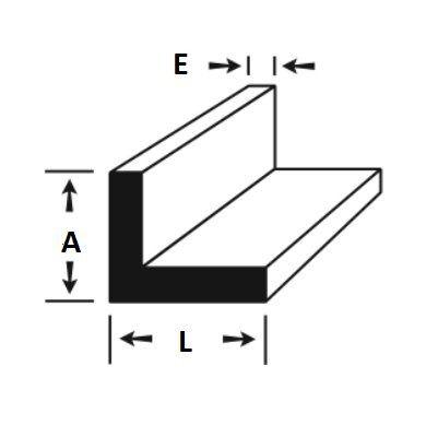 """Cantoneira de Aluminio 1/2"""" X 1/8"""" = (1,27cm X 3,17mm)"""