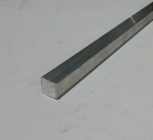 """Vergalhão quadrado de alumínio 3/8"""" (9,52mm)"""