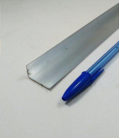 """Cantoneira de aluminio com abas desiguais 1"""" x 1/2"""" x 1/16"""" (2,54cm x 1,27cm x 1,58mmm)"""