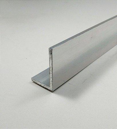 "Cantoneira de aluminio abas desiguais 1.1/2"" x 1"" x 1/8"" = (3,81cm x 2,54cm x 3,17mm)"
